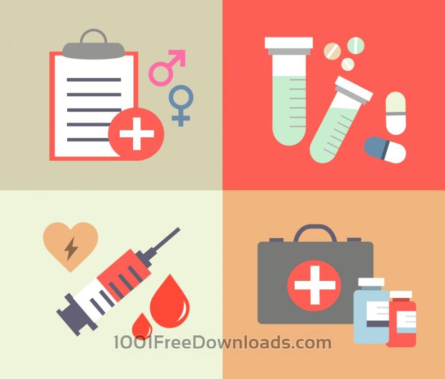 Free Vectors: Medical objects for design. Vector illustrations | Design