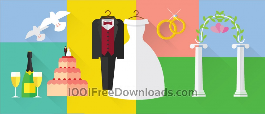 Free Vectors: Vintage wedding inspiration objects for vector design | Backgrounds