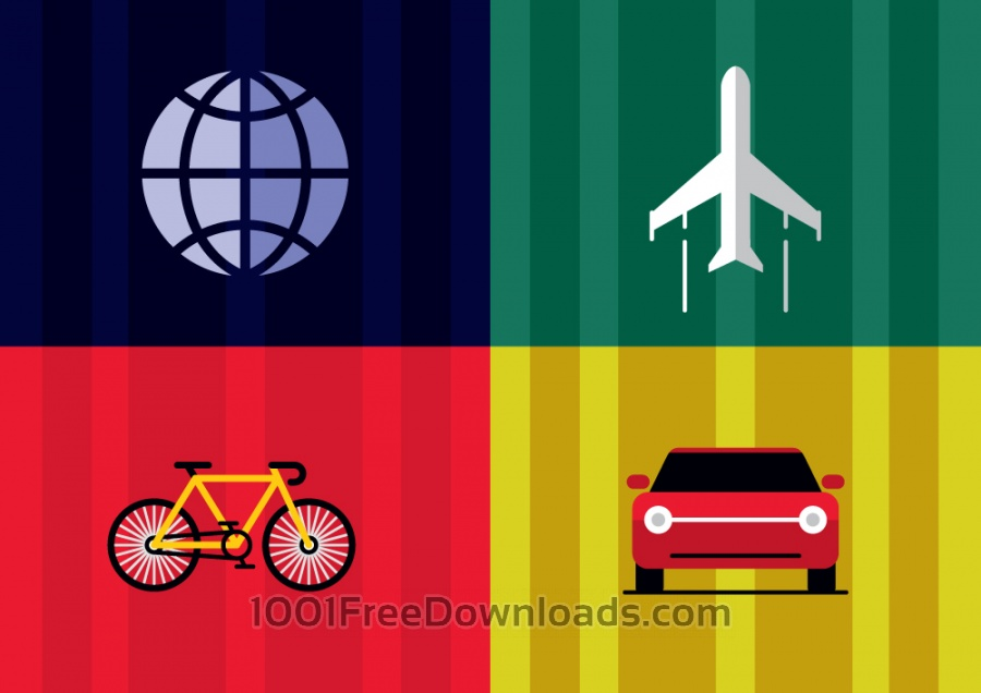 Free Vectors: Travel objects vector illustration for design | Backgrounds
