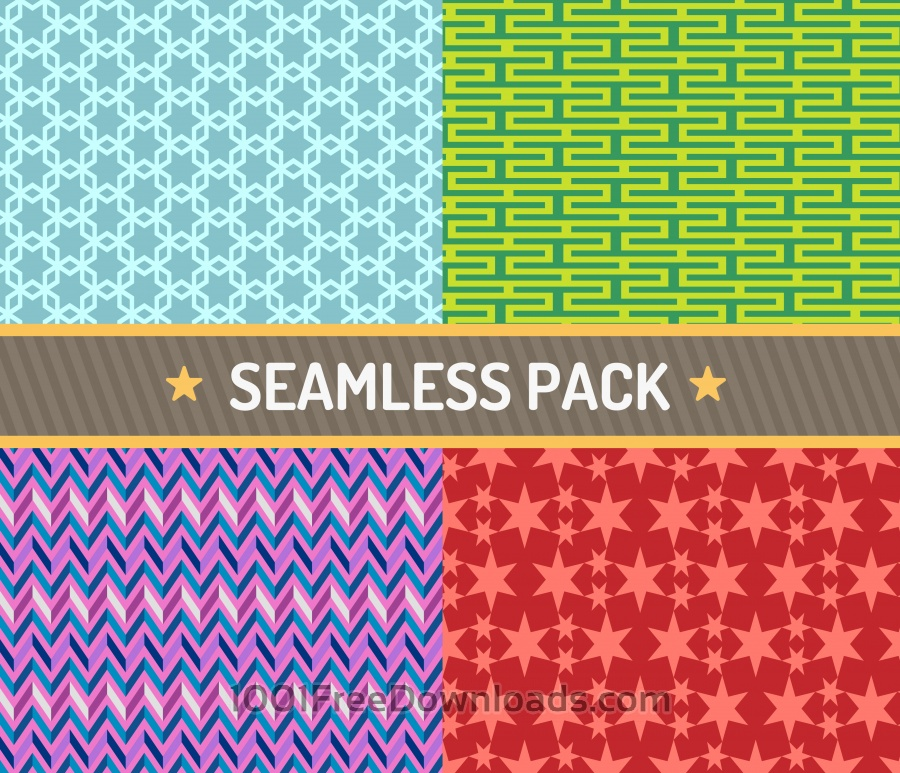 Free Vectors: Vector seamless pattern vector illustration pack | Abstract