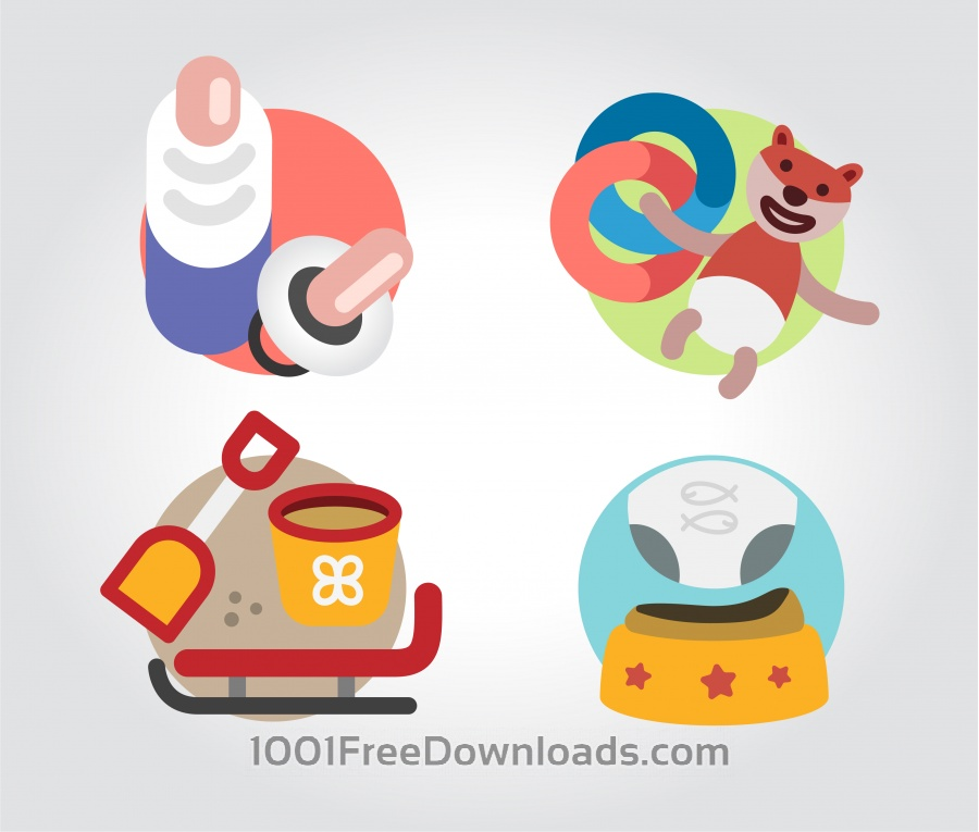 Free Toys icons vector illustration for design
