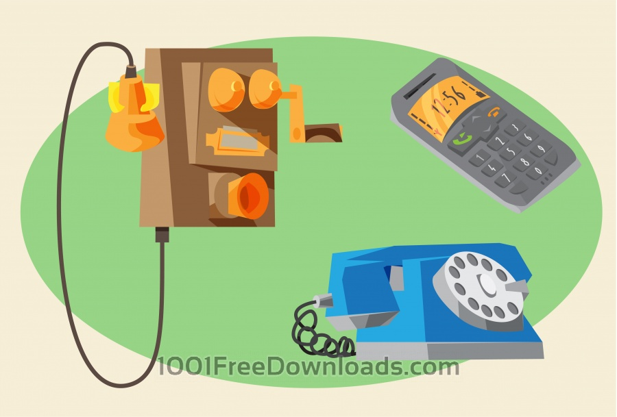 Free Communication objects for design. Vector illustrations