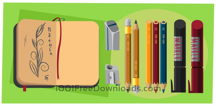 Free Vectors: Designer tools vector objects for design. Vector illustrations | Backgrounds
