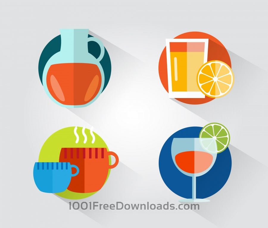 Free Vectors: Food objects for design. Vector illustrations | Icons