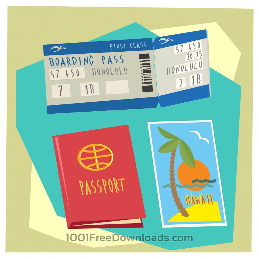 Travel cartoon objects vector illustration for design