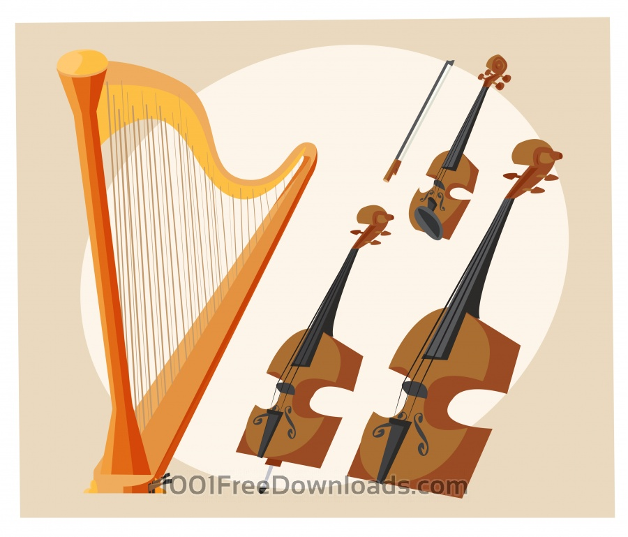 Free Vectors: Music objects vector illustration for design | Objects