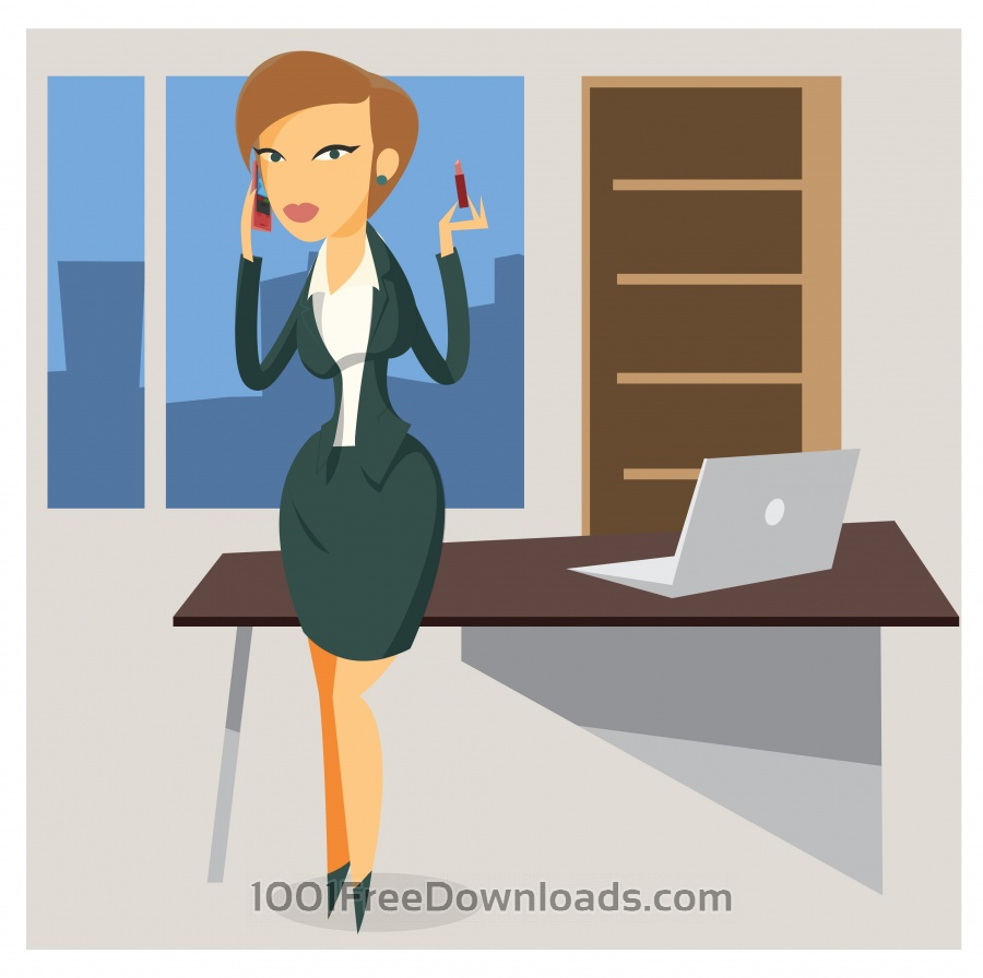 Free Vectors: Business woman objects vector illustration for design | Business