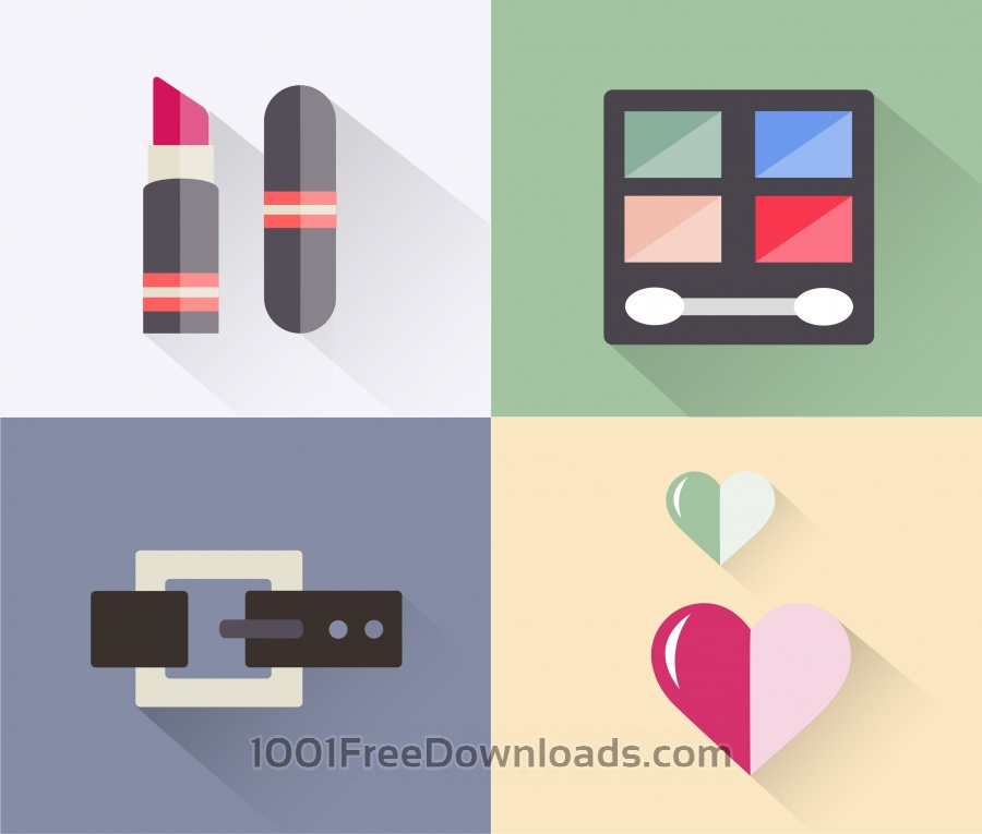 Free Vectors: Beauty fashion objects vector illustration for design | Objects