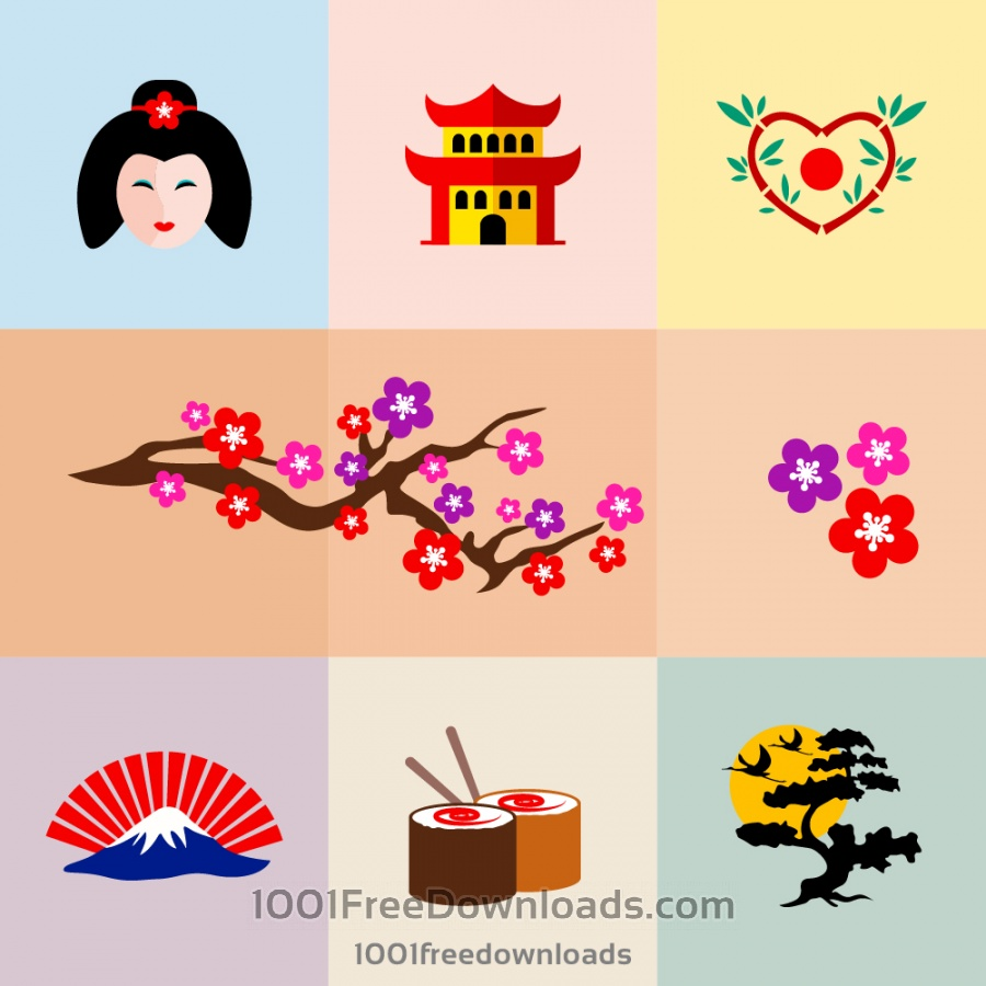 Free Japanese icon set