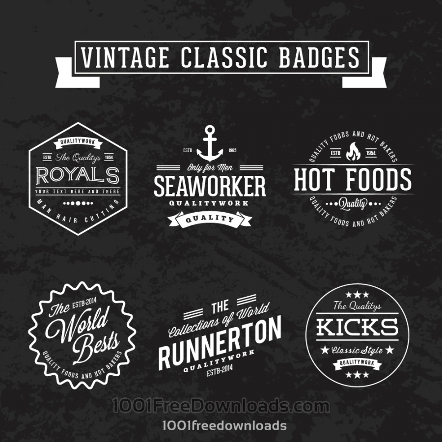 Free Vintage retro classic badges