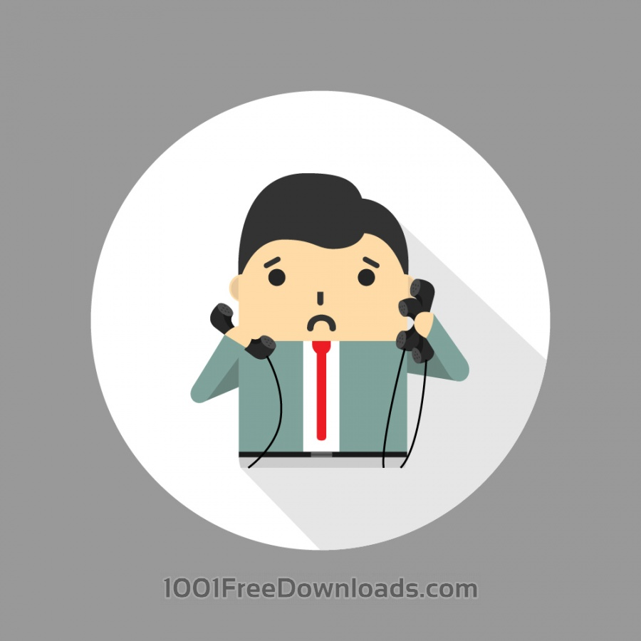 Free Vectors: Businessman looking tired and overwhelmed | Icons