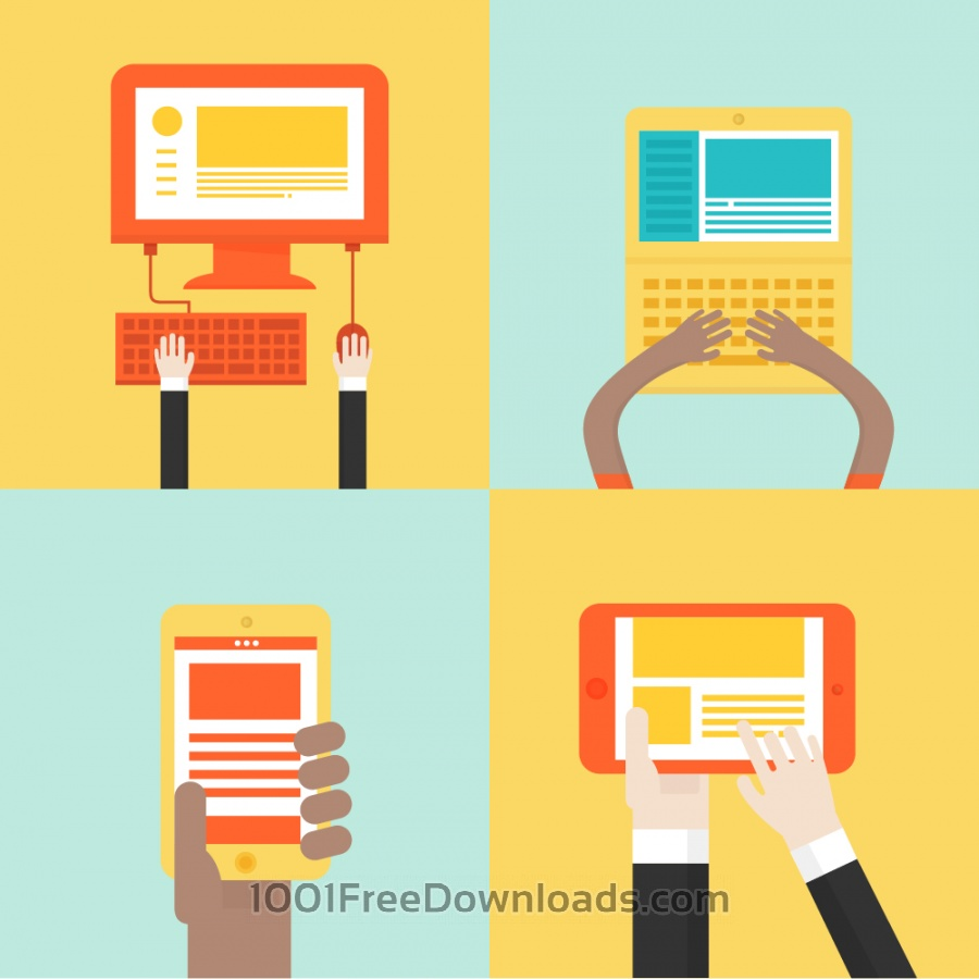Free Laptops and mobile device icons