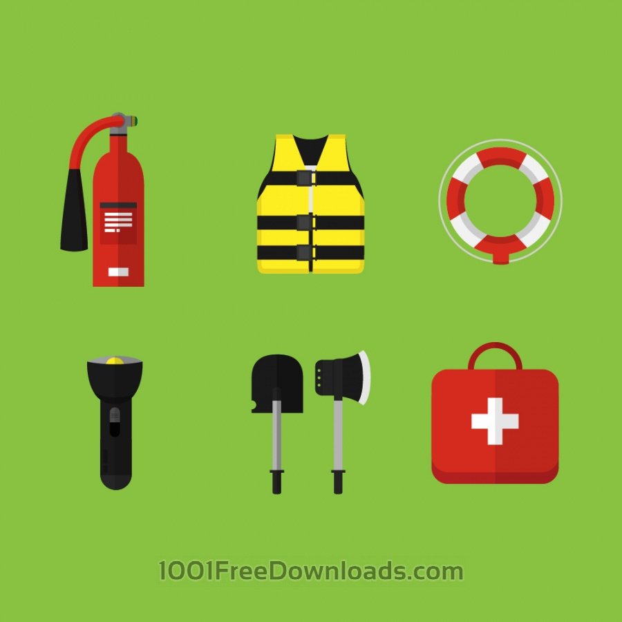 Free Vectors: Emergency and first aid icons | Icons