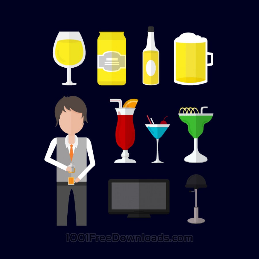 Free Icons for bartender