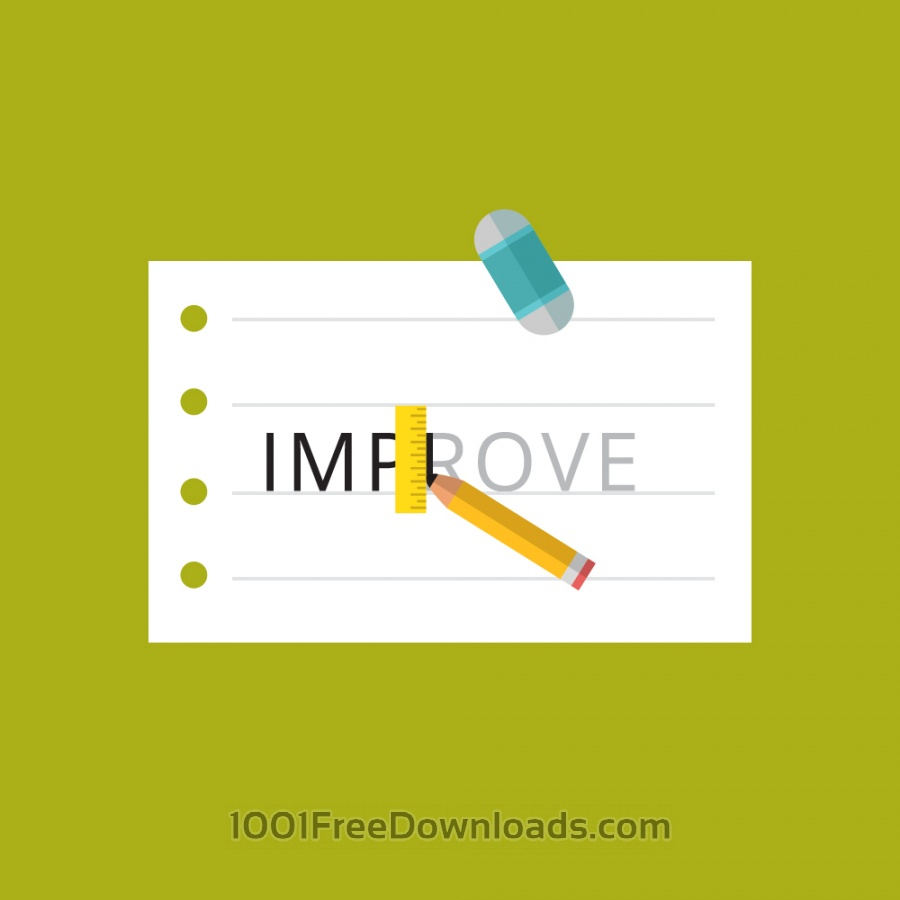 Free Paper with the word improve being written