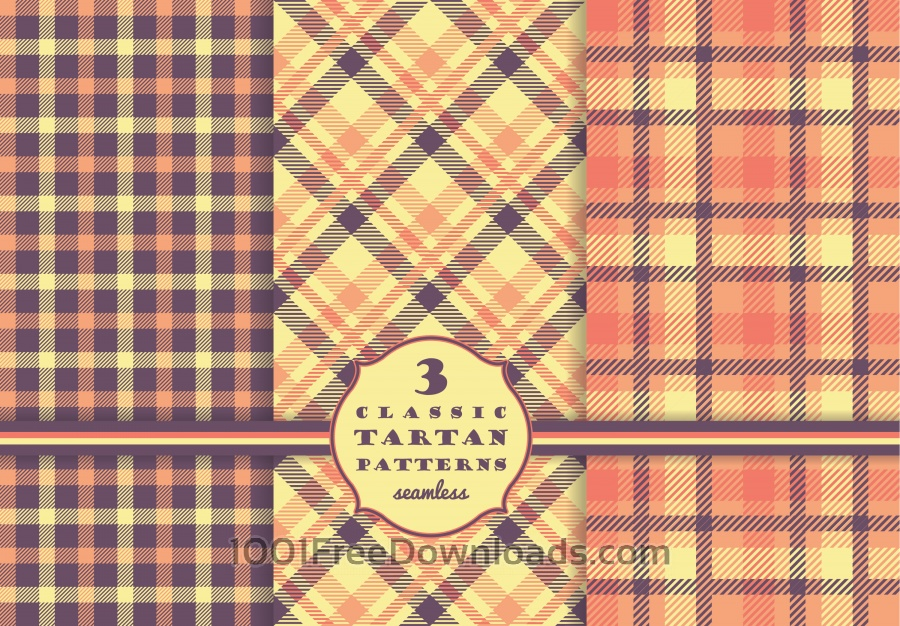 Free Vectors: Set of tartan seamless pattern  | Abstract
