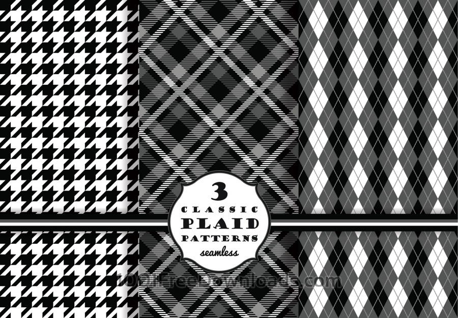 Free Set of classic plaid patterns
