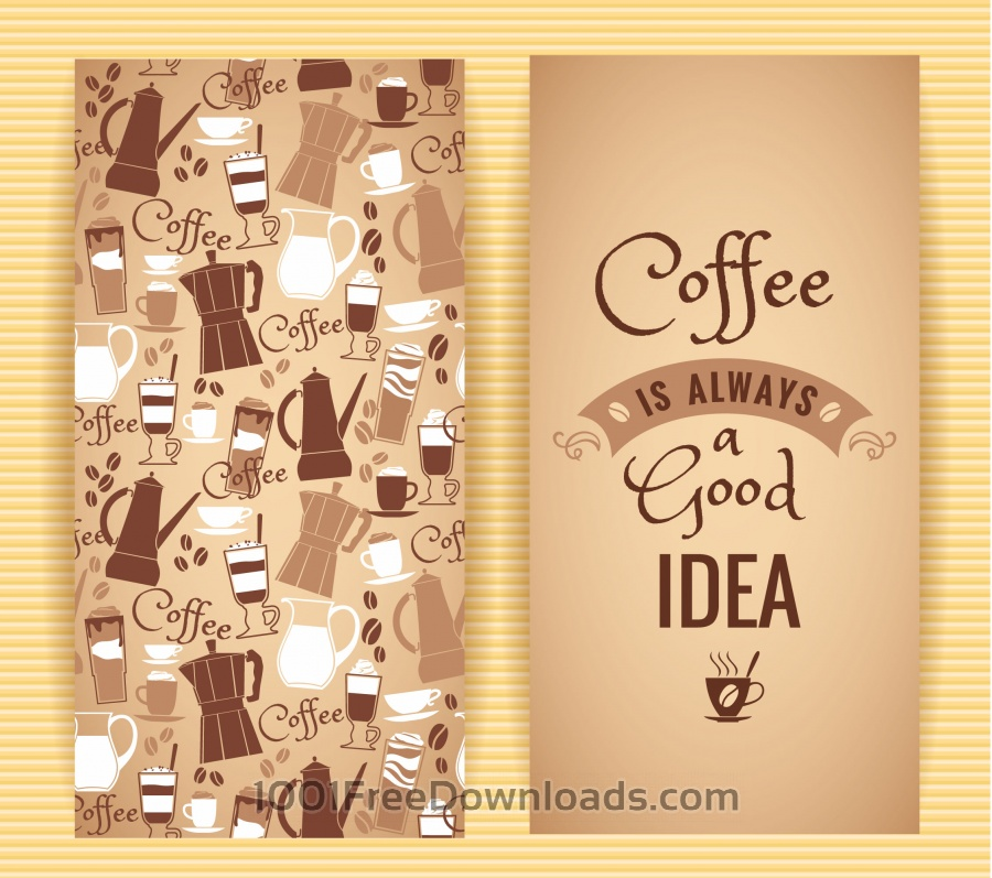 Free Vectors: Coffee concept design.  | Abstract