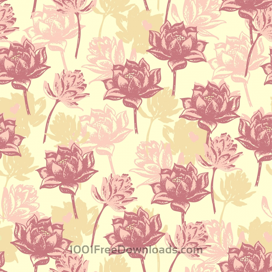 Free Vectors: Seamless floral pattern. | Abstract