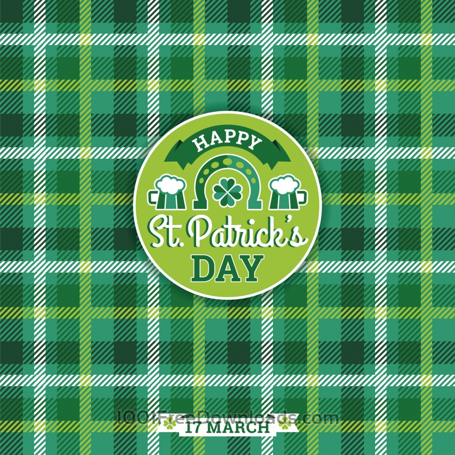 Free Saint Patricks Day baskground. Vector illustration