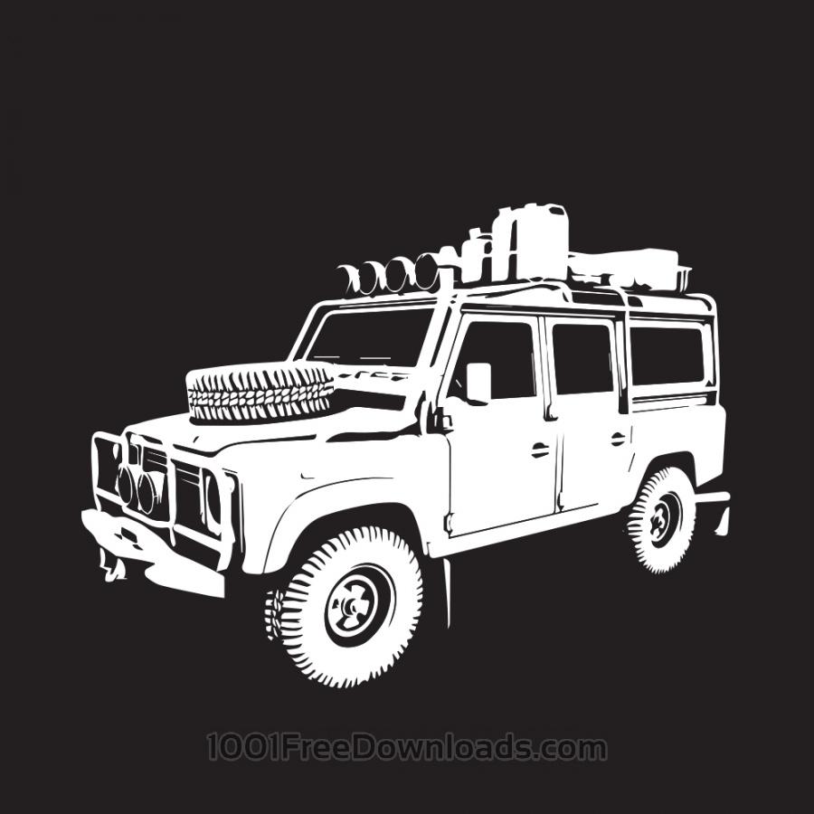 Free Vectors: Safari Truck | Vintage