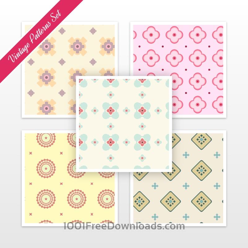 Free Vintage Pattern Set