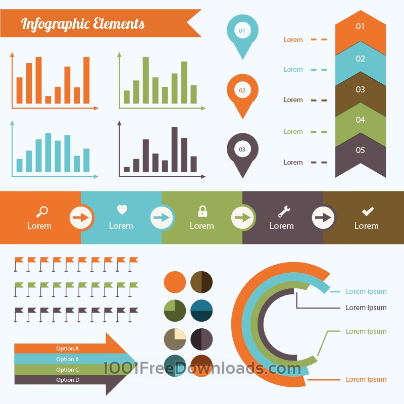 Free Vectors: Infographic Elements Set | Design