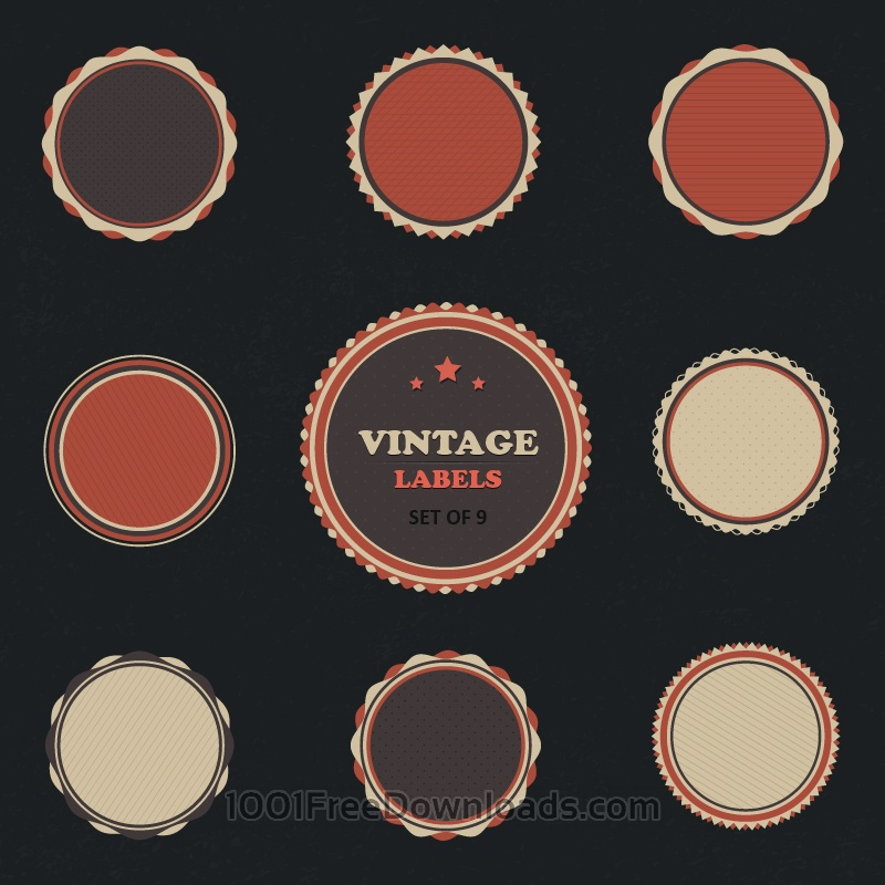 Free Vectors: Vintage Vector Labels Set | Vintage