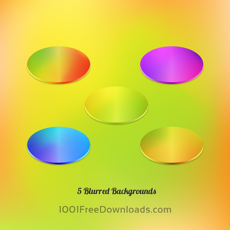 Free Vector Blurred Backgrounds Set