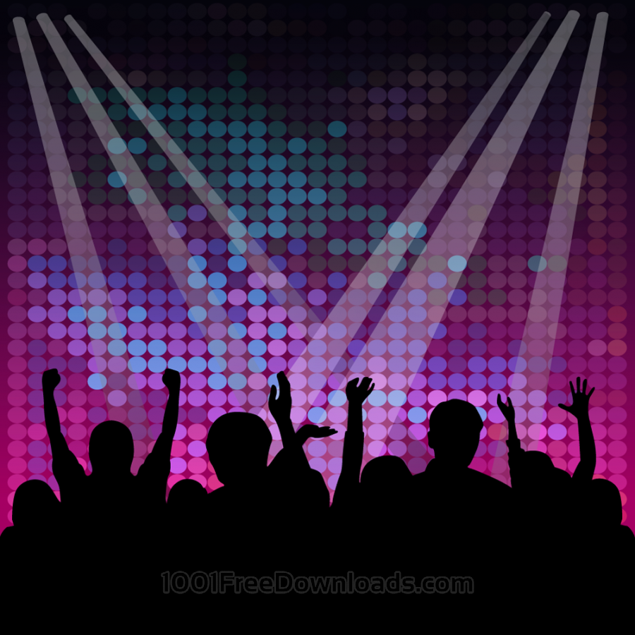 Free Crowd vector silhouette