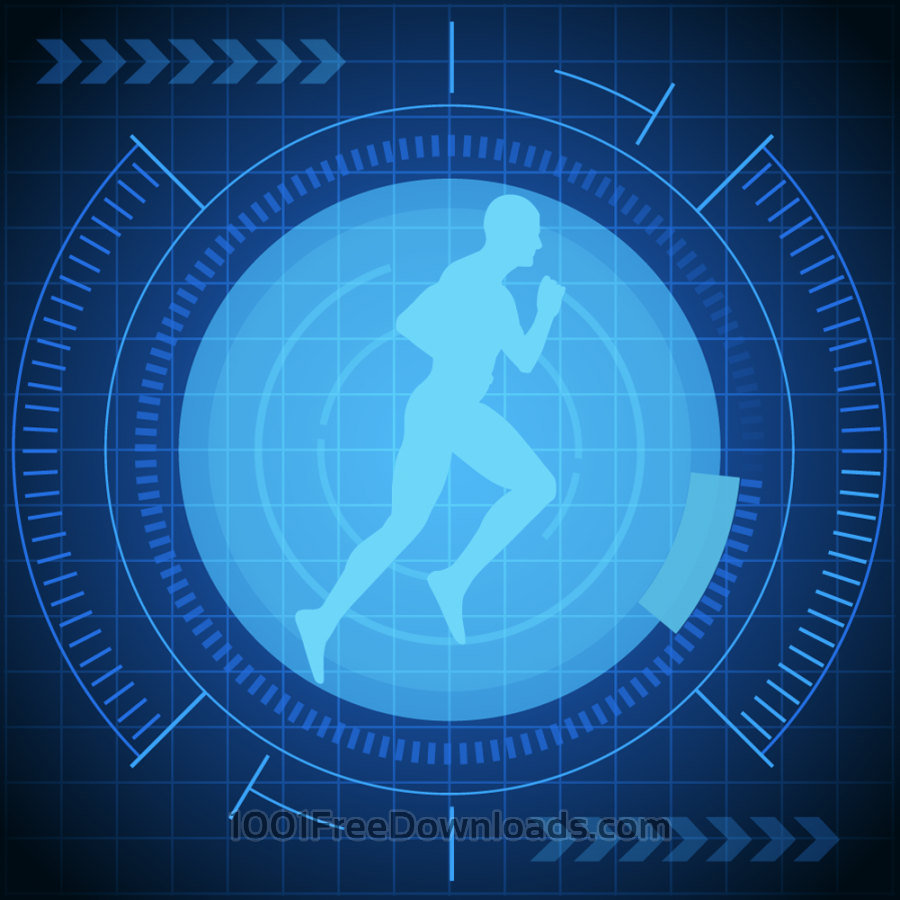 Free Vectors: Vector illustration futuristic runner  | Backgrounds