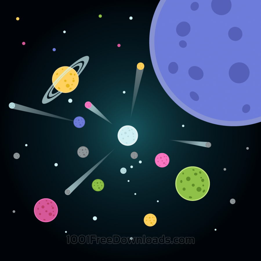 Free Vector illustration Planets