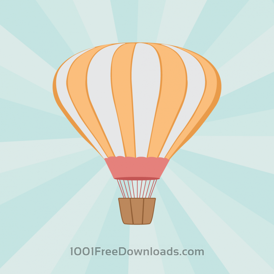 Free Vector illustration Air balloon