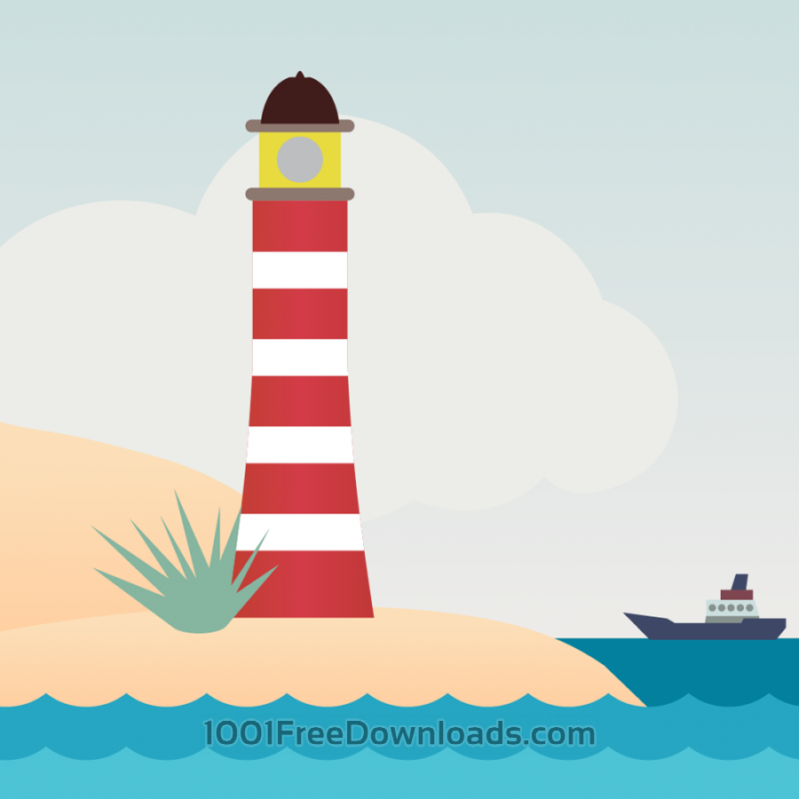 Free Vectors: Vector illustration Lighthouse | Objects