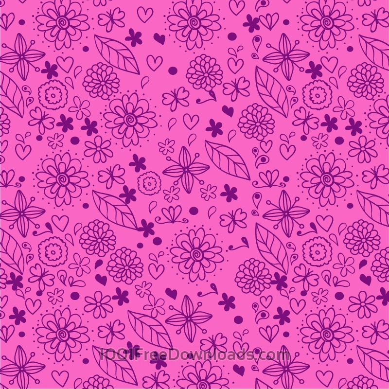 Free Vectors: Doodle floral pattern | Abstract
