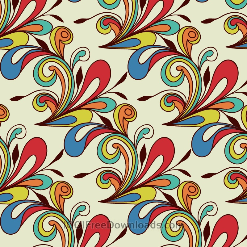 Free Doodle abstract pattern