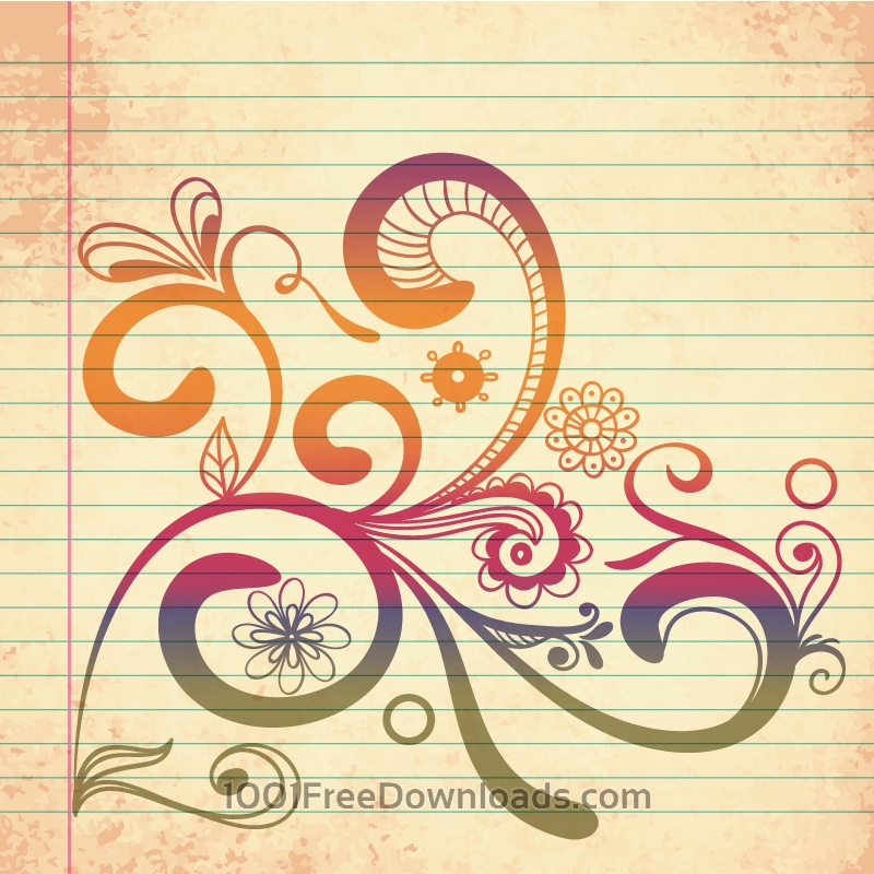 Free Vectors: Doodle vector illustration | Abstract