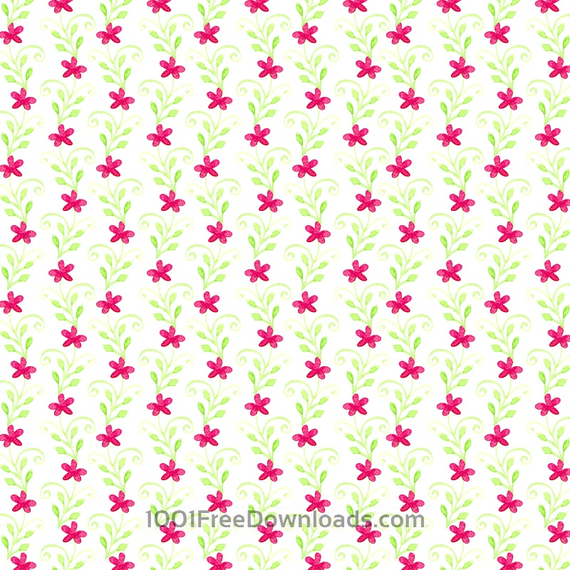 Free Vectors: Watercolor floral pattern | Flowers