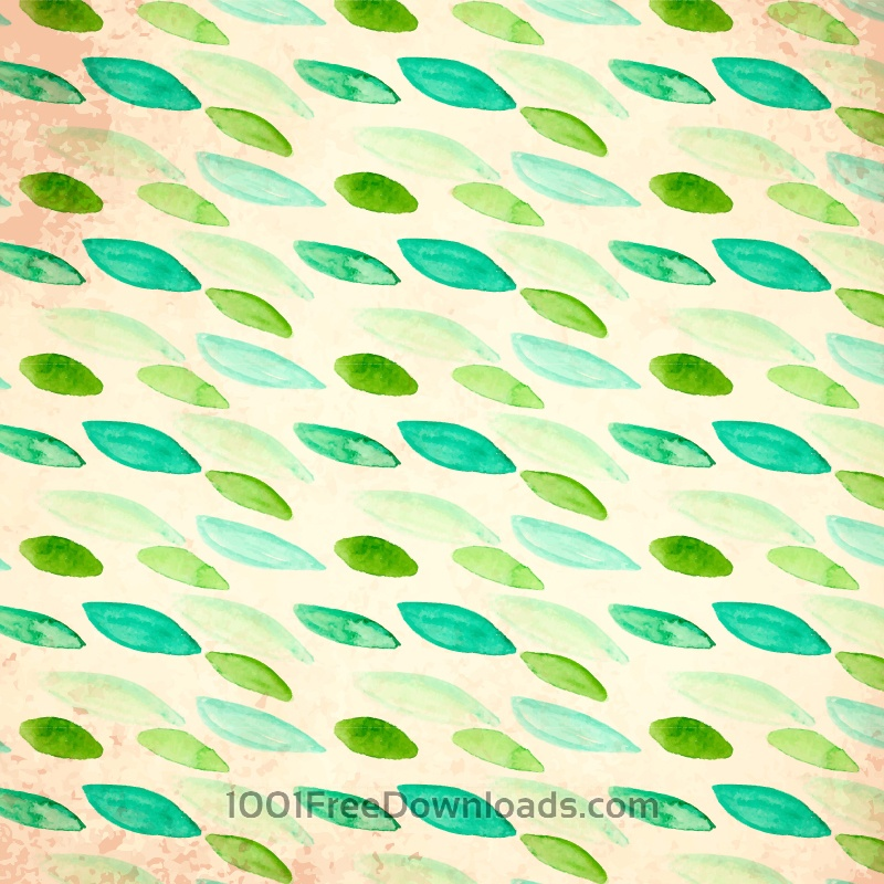 Free Watercolor vector pattern with leaves