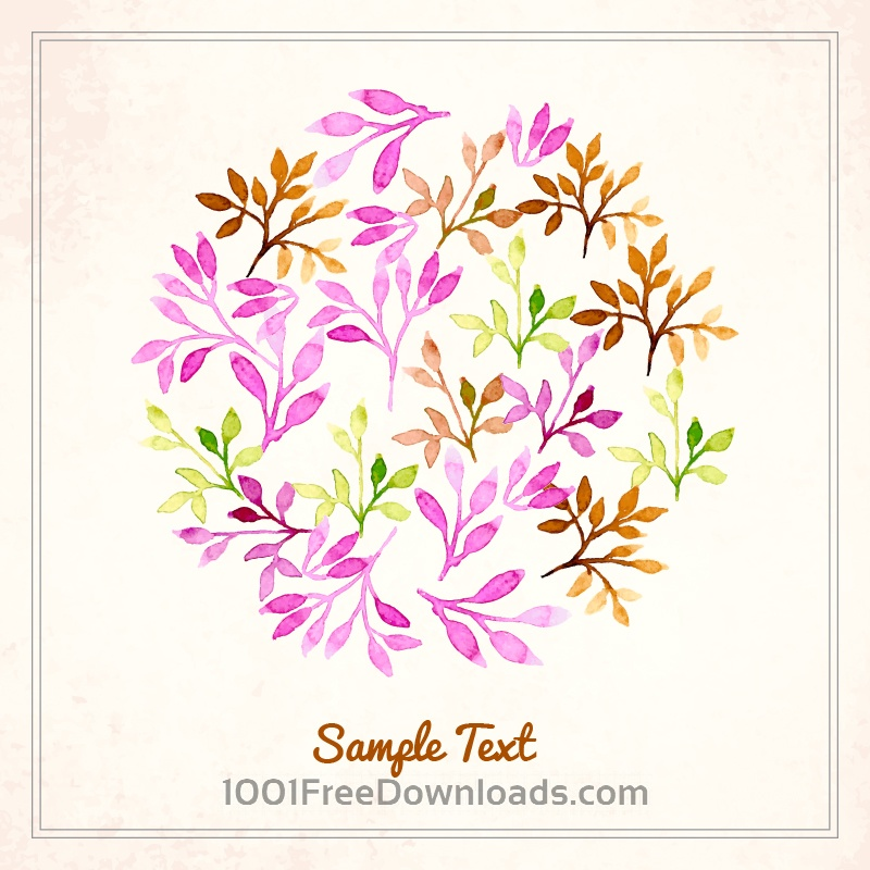 Free Vectors: Watercolor vector illustration | Flowers