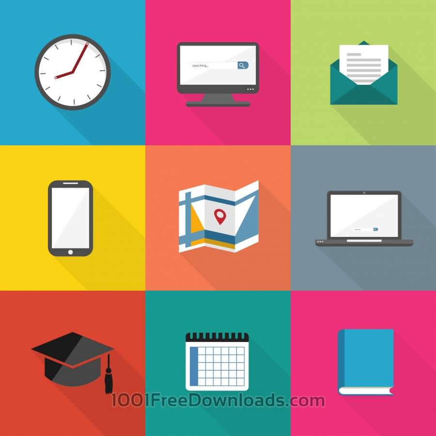 Free Vectors: Flat Icons Set | Abstract