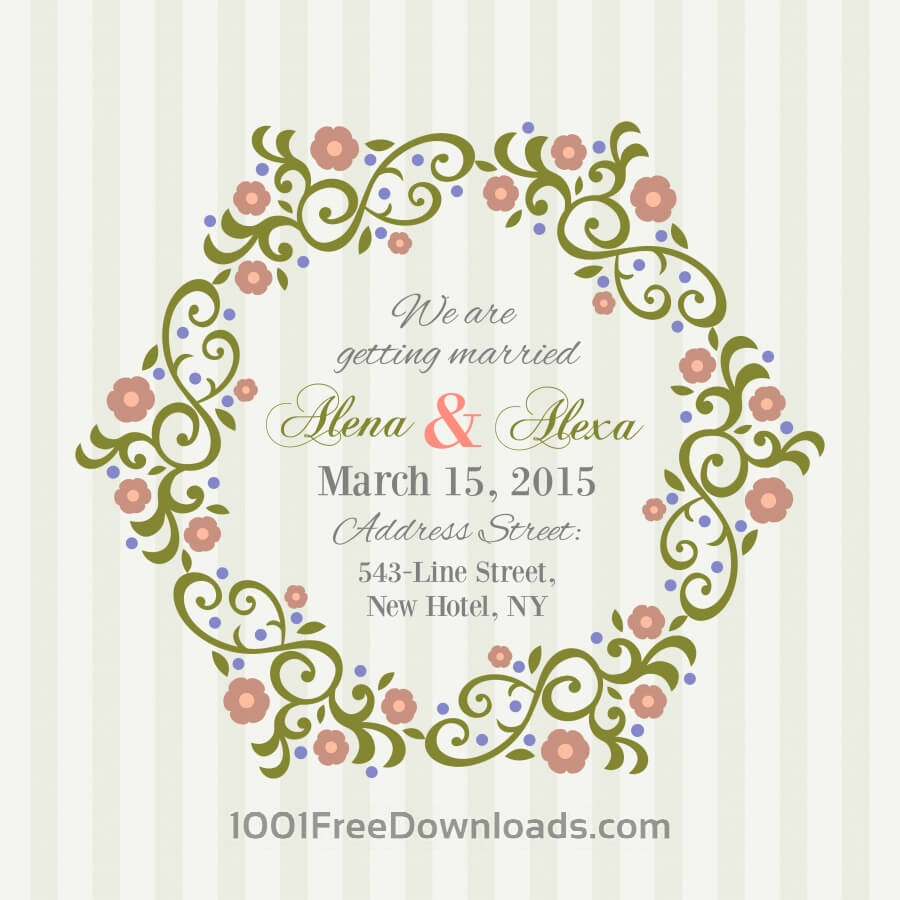 Free Vectors: Invitation Card with background | Abstract