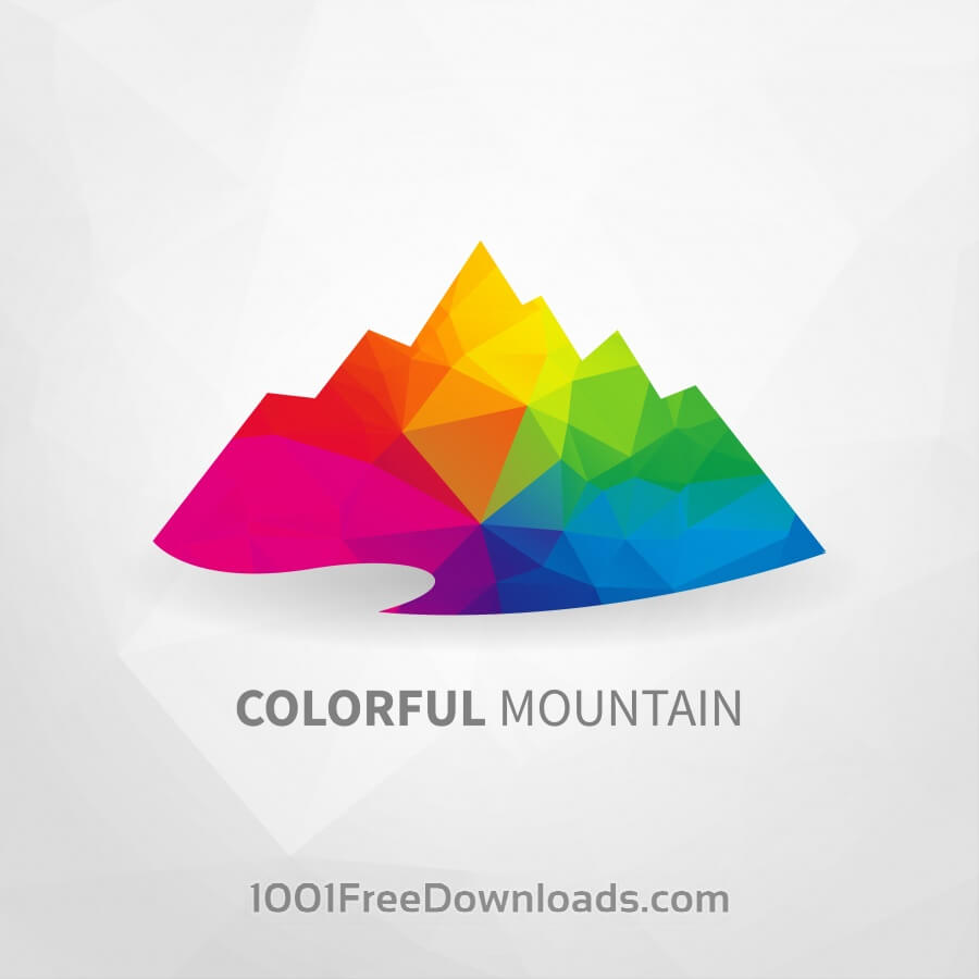 Free Vectors: Colorful Mountain | Abstract