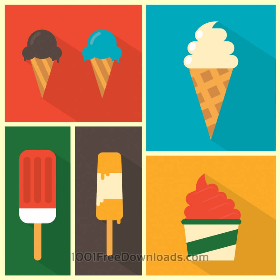Free Vectors: Ice Cream Background | Backgrounds