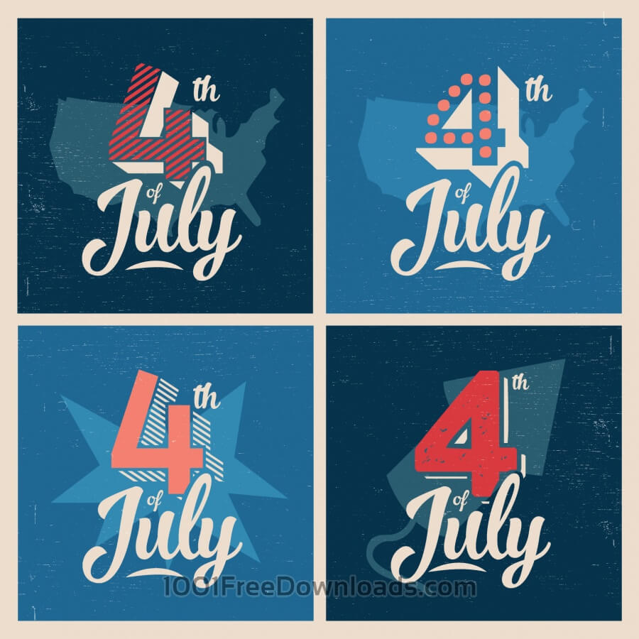 Free Vectors: 4th of July Background | Backgrounds
