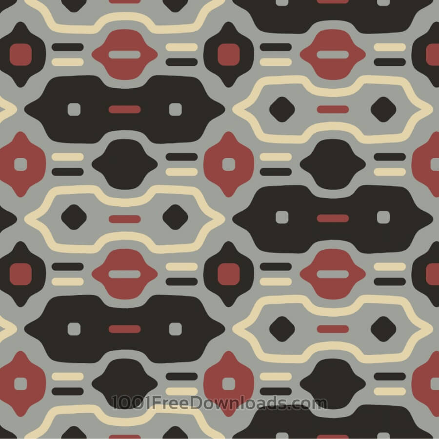 Free Retro Black, Red, and Cream Pattern