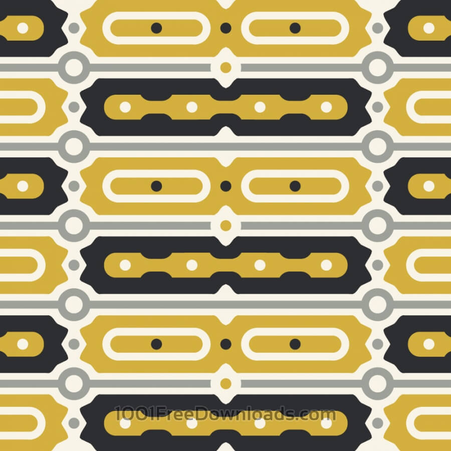 Gold and Black Bar Pattern