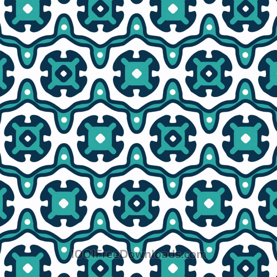Free Vectors: Ornate Blue and White Pattern | Abstract