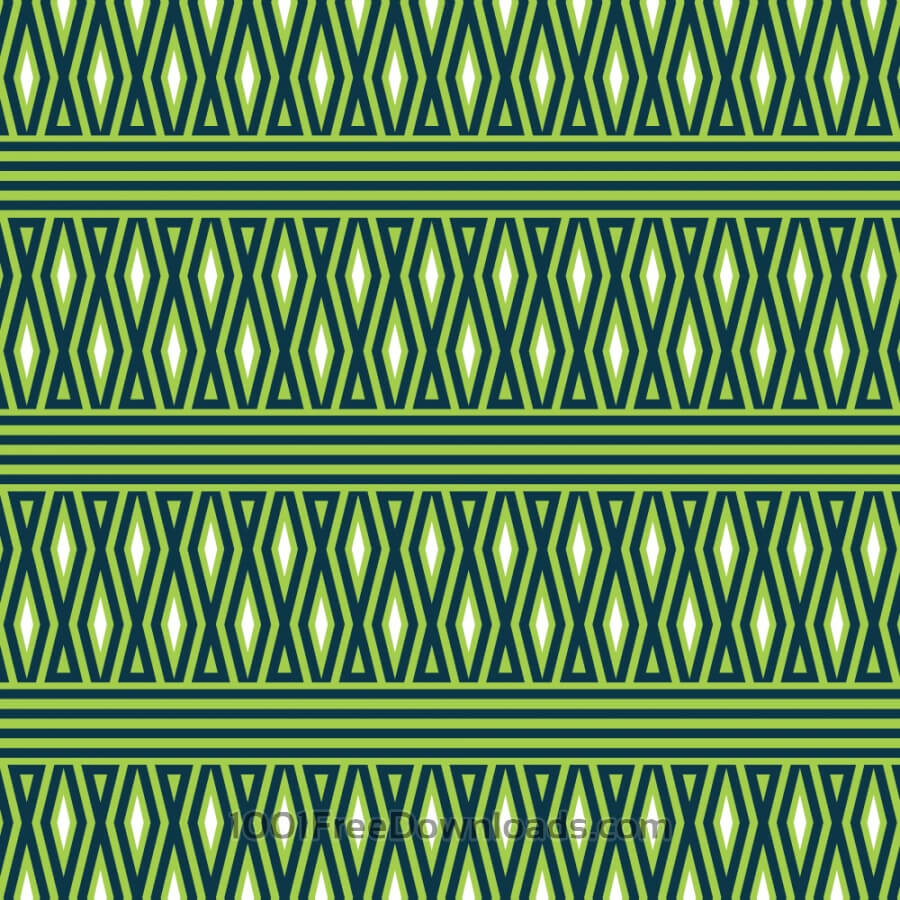 Free Geometric Green and White Pattern