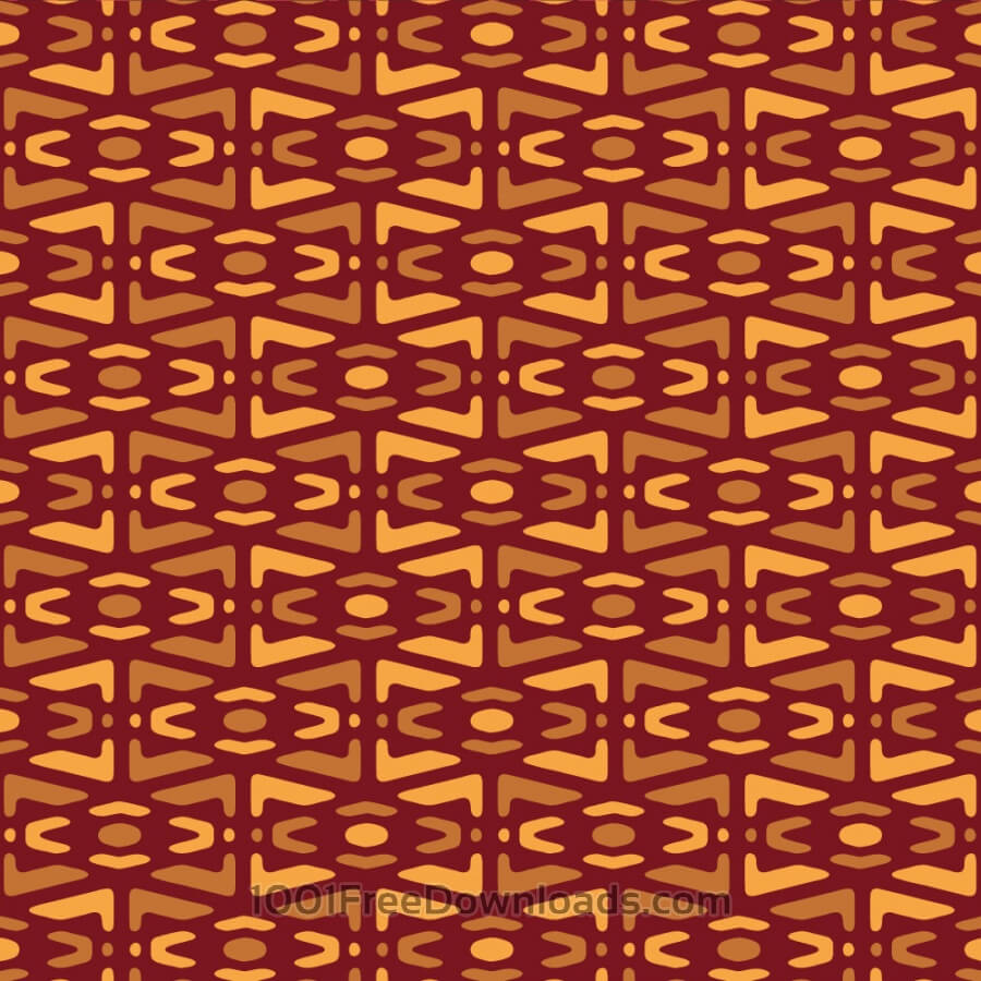 Free Vectors: Yellow and Maroon Tribal Pattern | Abstract